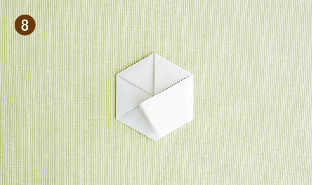 六角形 折り方 手順⑧