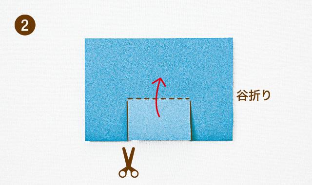 飛び出すカードの基本 段の作り方 手順②
