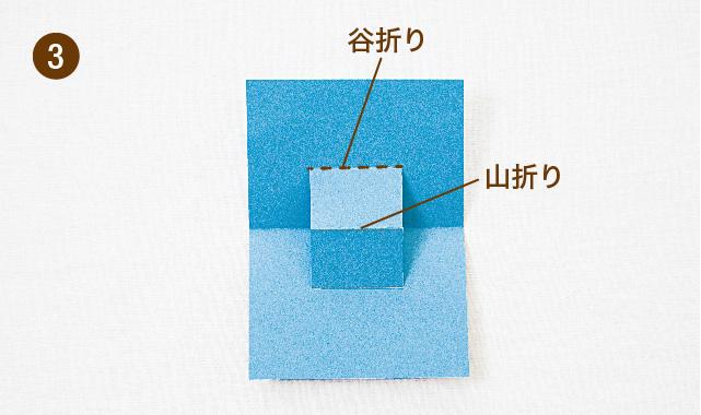 飛び出すカードの基本 段の作り方 手順③