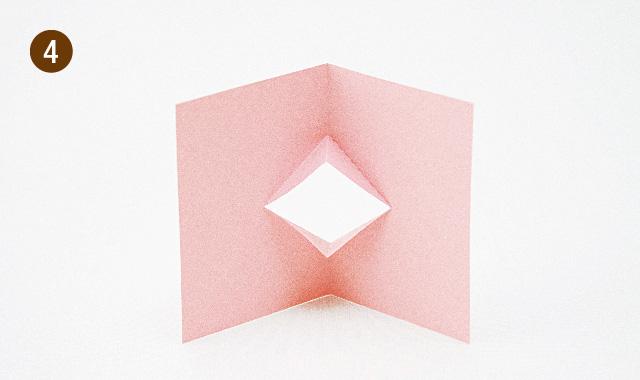 飛び出すカードの基本 くちばしの作り方 手順④