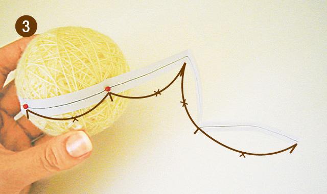 手まりの作り方 地割り糸のかがり方 手順③