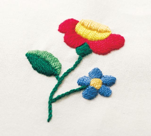 カロチャ刺繍の刺し方
