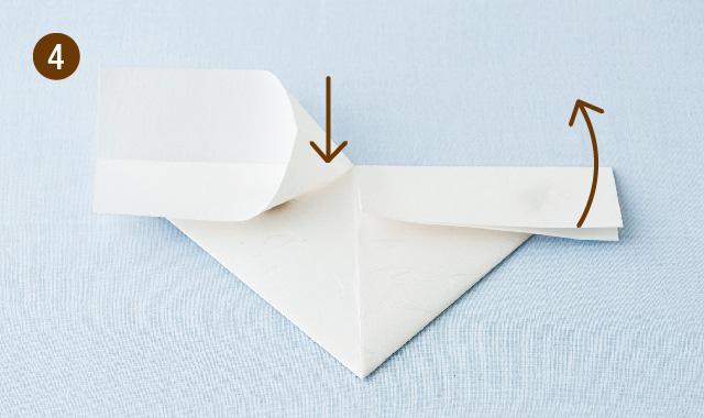 ハート 折り方 手順④