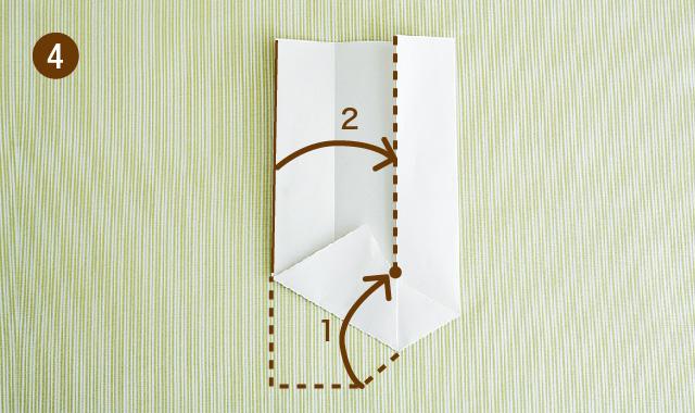 六角形 折り方 手順④
