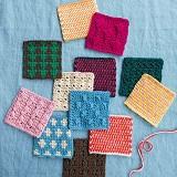 ぽってり編み地がなつかしいアフガン編みのサンプラーの会