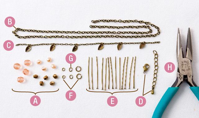 ビーズネックレス 道具とパーツ