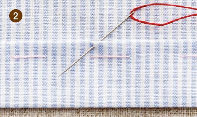 まつり縫いの手順2