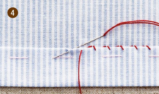 まつり縫いの手順4