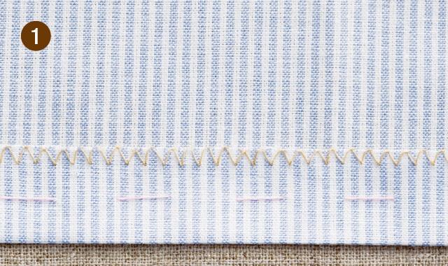 奥まつり縫いの手順1