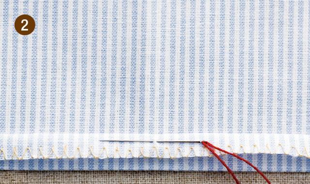 奥まつり縫いの手順2