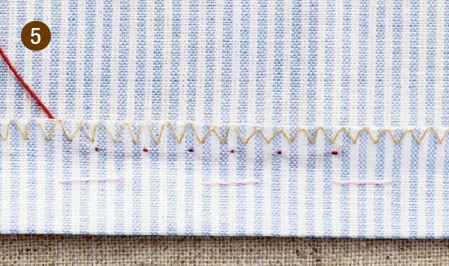 奥まつり縫いの手順5