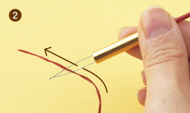 ニードルパンチ 針に糸を通しましょう 手順②