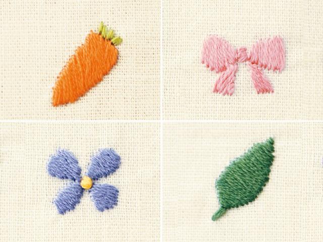 面を埋める刺繍のやり方