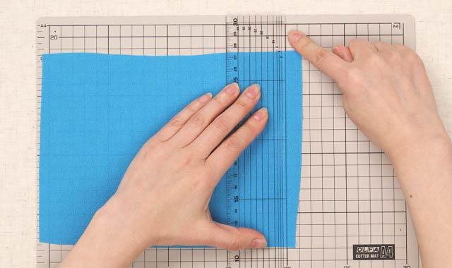 ロータリーカッター 布の切り方③