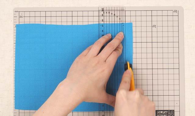 ロータリーカッター 布の切り方④