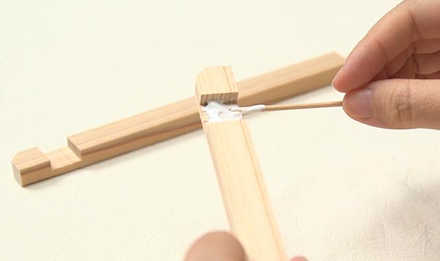 ニャンドゥティ 木枠を組み立てて、布を張りましょう 手順①