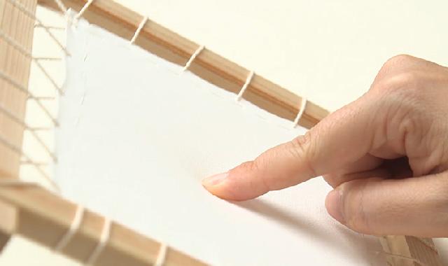 ニャンドゥティ 木枠を組み立てて、布を張りましょう 手順⑤