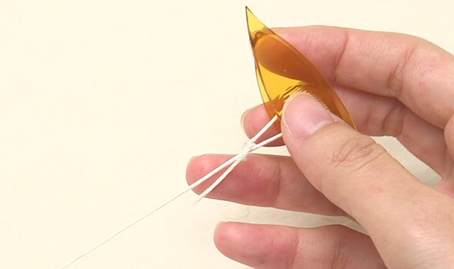 タティングレース  糸の通し方 手順③