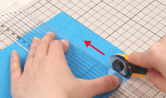 ロータリーカッター 布の切り方 POINT1
