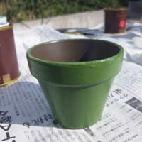 素焼きの鉢をペンキで塗装!(2)