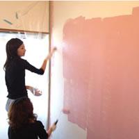 子ども部屋を塗る