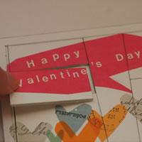 バレンタインの手作りカード。