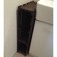 洗面台横のすき間をすのこ棚で埋める!