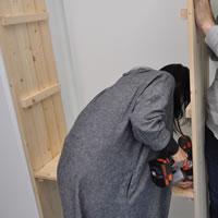 あまっていた1×4(ワンバイフォー)材で、DIY部の備品棚を作ります