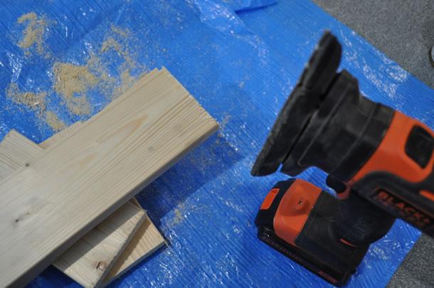 マルチエボをサンダーヘッドに取り換えて表面を滑らかにします