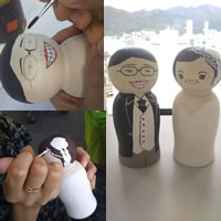 【プレゼントに!】結婚のお祝いに、こけし絵付けDIYにチャレンジ!