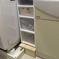 【お助けDIY】洗濯機横の収納スペースを作る!