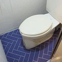 トイレに「敷く」 してステキに変身させました^^【貼るだけ敷くだけキャンペーン実施中!】