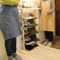 【賃貸でも初心者でも】理想の暮らしをかなえるDIY 靴をディスプレイしながら収納できる棚