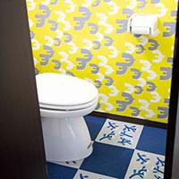 トイレの壁を北欧風にリメイク!