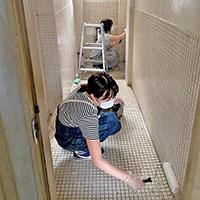古いビルの元浴室を、使える部屋にリノベーション!その2