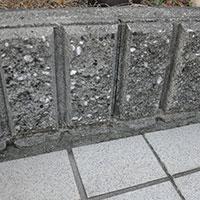 コンクリートやブロックのすき間から生える草対策にインスタントセメントを使ってみた