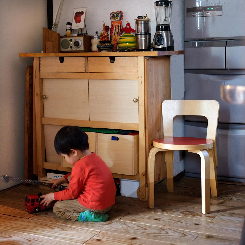 子どものおもちゃの収納