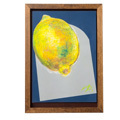 脳がめざめるお絵かきプログラム オイルパステル編紙セット4 「きらきら きらめくレモン」