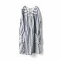Sunny clouds Striped Linen Dress〈women〉