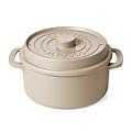 一度で2種類の具材を分けて蒸せる 電子レンジ調理鍋〈ウォームグレー〉