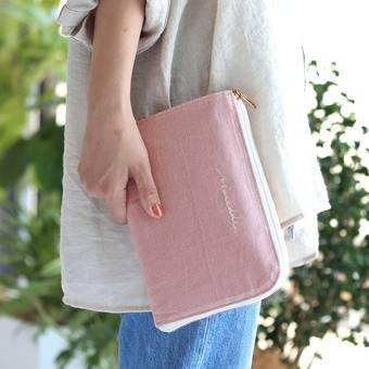 Moredde ジャバラポケットで仕分け上手 軽くてスリムな母子手帳ケース〈ピンク〉