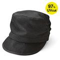 リブ イン コンフォート UVカット率90%以上 髪の毛をむすんだまますっぽりかぶれるすっぴん隠し帽子〈ブラック〉