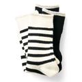 Sunny clouds 2-pair Pile Socks  black