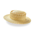 Sunny clouds Handmade Straw Boater <women>