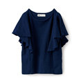 Sunny clouds Bubble Jaquard Top <women>