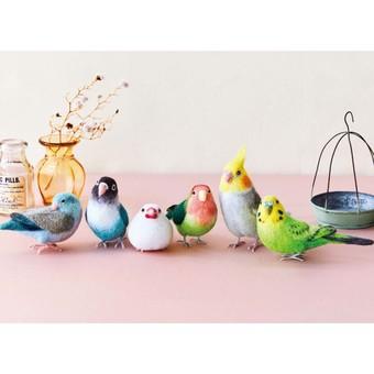 "Couturier x ""Felissimo Kotori-Bu"" (Birds Club) Needle Felted Birds Handmade Kit collection"