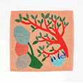 挿絵画家moritaMiW もこもこパイルに刺しゅうがポイント ガーゼパイルハンカチの会
