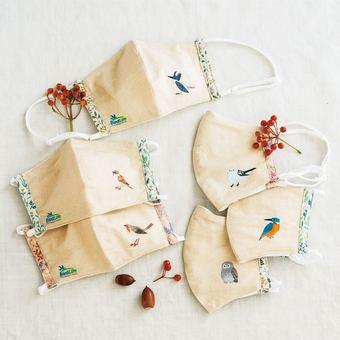 Bird Life International x Felissimo Soft wild bird mask collection