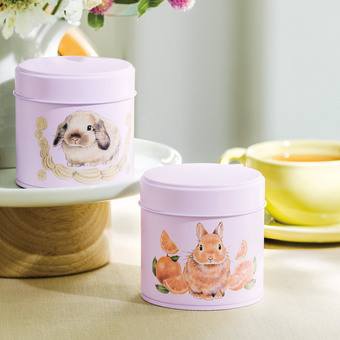YOU+MORE! Enjoy relaxing tea party! Bunny-themed canned tea bag collection
