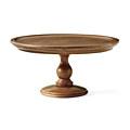 アンティークな佇(たたず)まい 木製脚付き皿〈ユーズドセピアブラウン〉の会